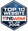 Top10 Hitwise Website Apr-Jun 2008